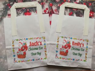 Christmas Eve Treat Bag & Personalised Sticker